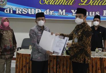 Kadinkes Provinsi Bengkulu Jabat Plt Direktur RSMY