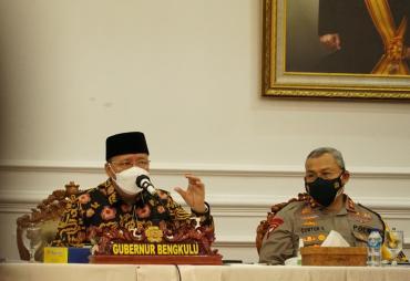 Tekan Laju Covid, Gubernur Rohidin Bahas Strategi Bersama…