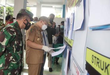 Dua Posko PPKM di Bengkulu Utara Disidak Gubernur Rohidin