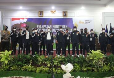 Gubernur Rohidin Lepas Kontingen Bengkulu ke PON XX Papua