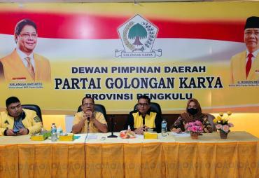 MPO Partai Golkar Provinsi Bengkulu Gelar Rapat Kerja