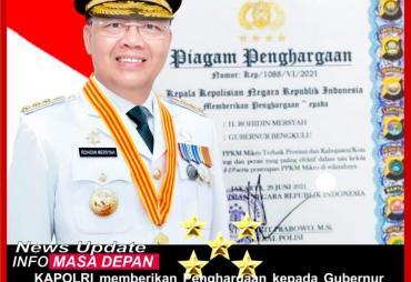 Gubernur Rohidin Dapat Penghargaan dari Kapolri Atas…