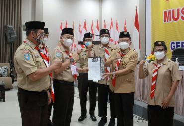 Sekda Prov. Hamka Sabri Siap Majukan Pramuka Bengkulu